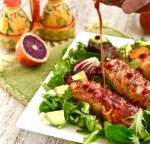 Blood Orange and Salmon Salad with Blood Orange Vinaigrette