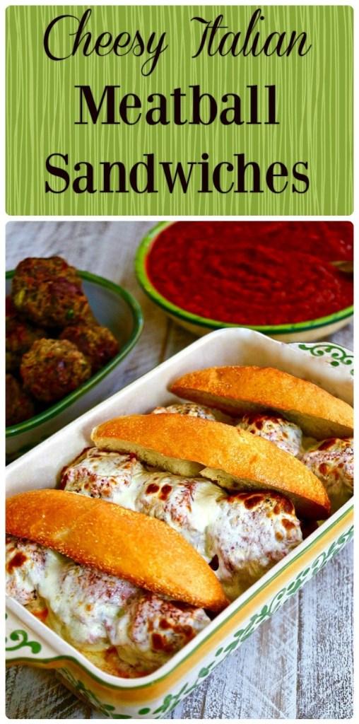 Cheesy Italian Meatball Sandwiches