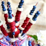 Red, White and Blue Fruit Kabobs