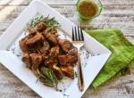 Italian Pork Ribs with Garlic Rosemary Sauce