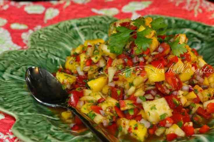 Superb and Easy Mango Pineapple Salsa