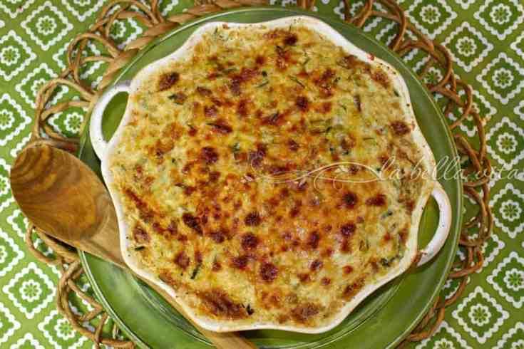 Creamy Parmesan Zucchini and Rice Gratin
