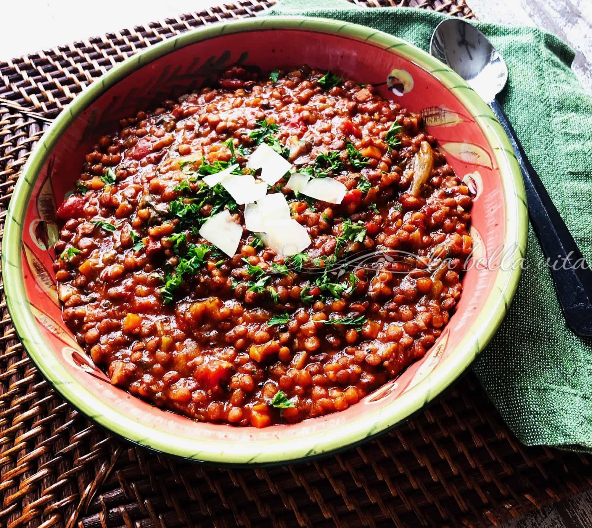 Italian Lentil Soup New Year's Tradition - La Bella Vita ...