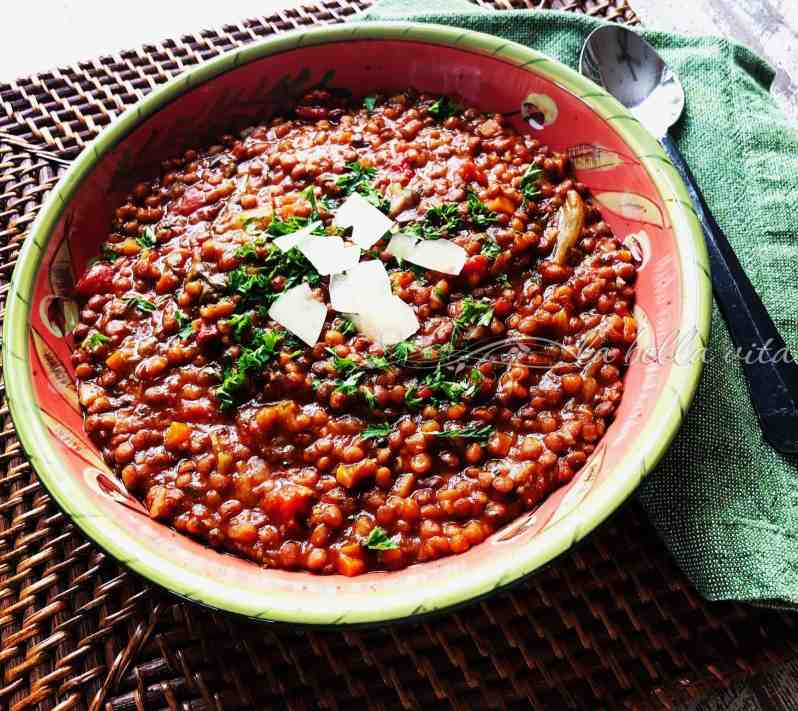 Italian Lentil Soup for New Year's Tradition