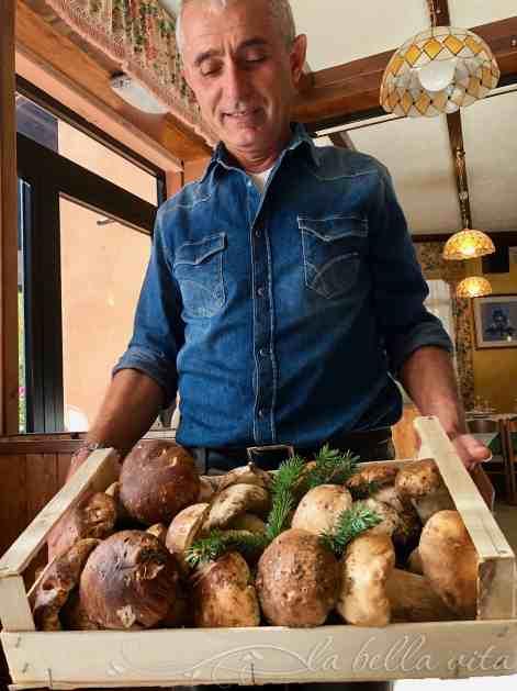 Polenta with Sauteed Porcini Mushrooms