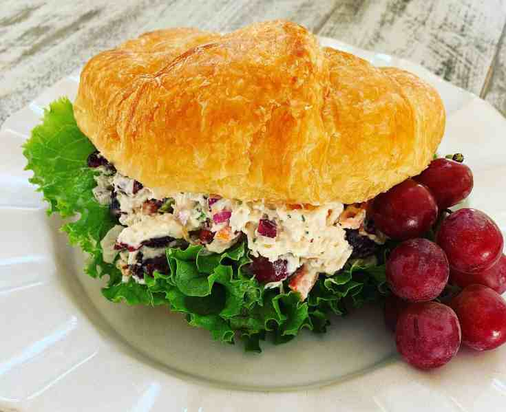 The BEST Chicken Salad with Dried Cranberries and Grapes