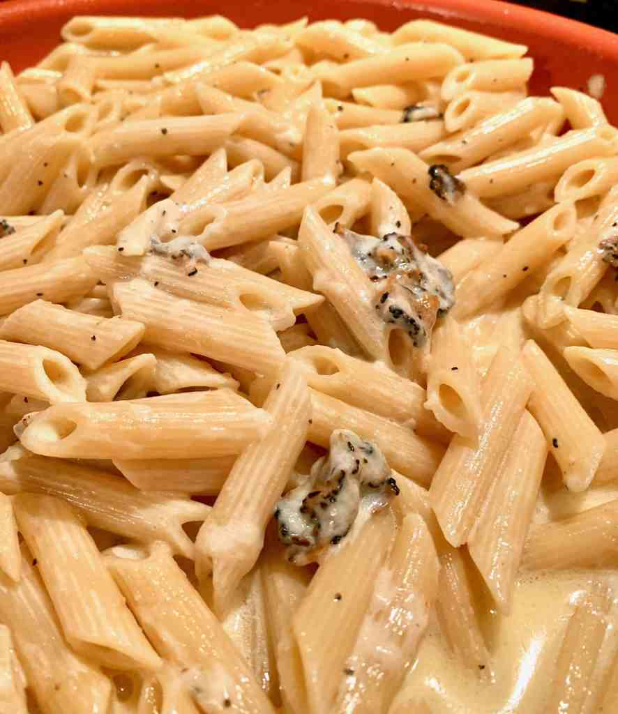 Easy and delicious Pasta with Truffle Cream Sauce