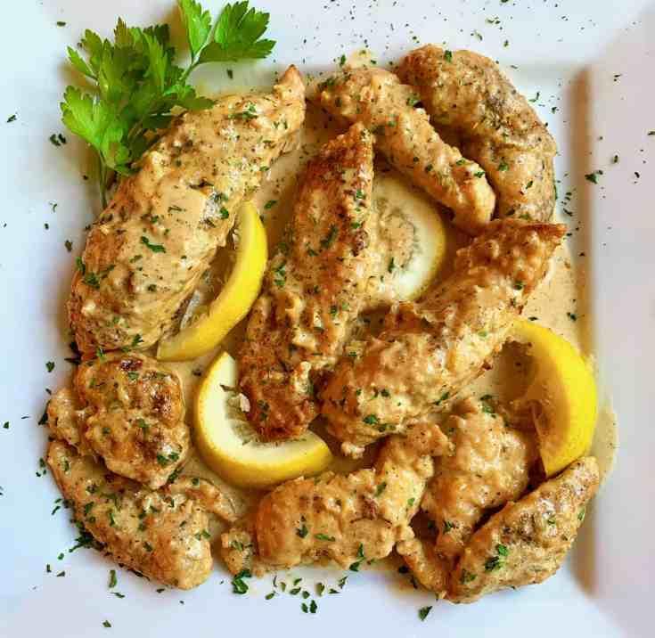 Chicken in Creamy, Lemon, Garlic and Parmesan Sauce ~ La Bella Vita Cucina