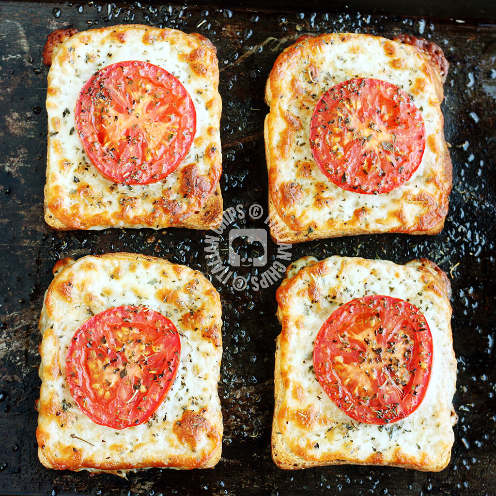 Tomato And Cheese On Toast - The Simplest Sinergy!