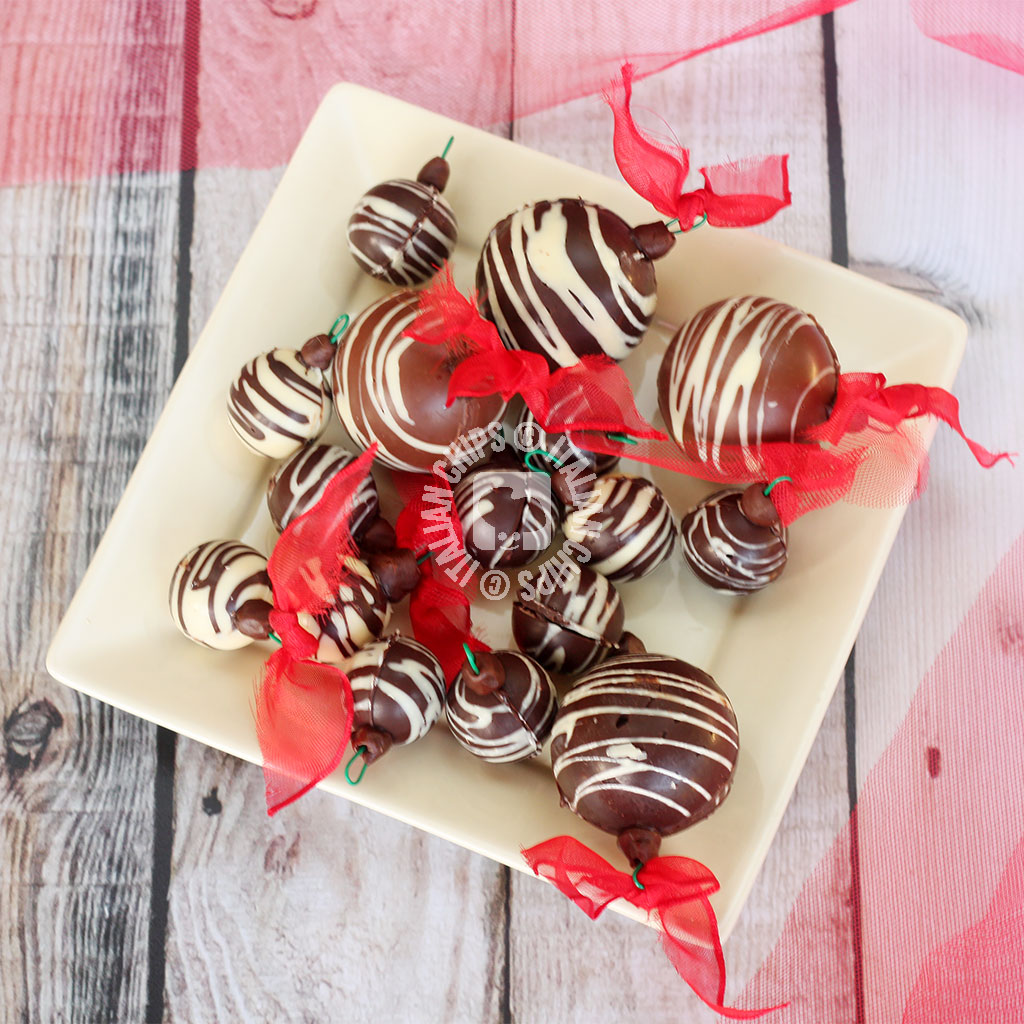 Homemade Chocolate Christmas Ornaments