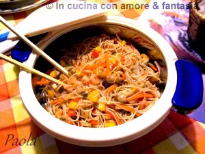 Spaghetti di riso integrale