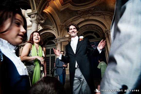 wedding in Torino town hall