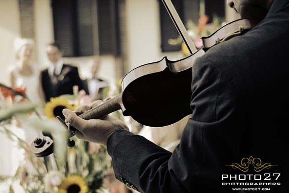 classic string trio for wedding in Piedmont