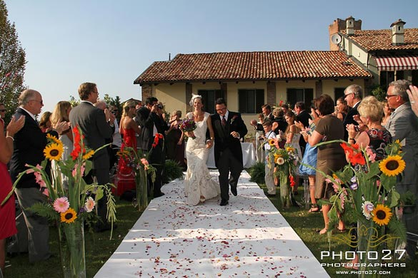 country wedding ceremony in Gaja Castle Piedmont