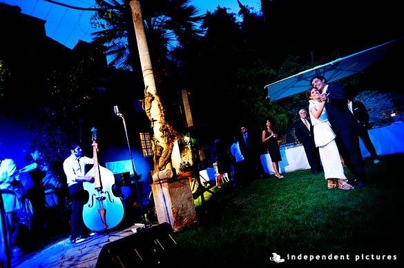outdoor wedding reception in Piemonte