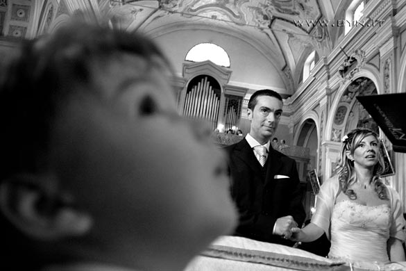 wedding ceremony to church of Vignale Monferrato