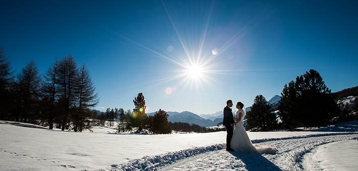 An Awarded Winter Wedding on Olympic Alps in Piemonte