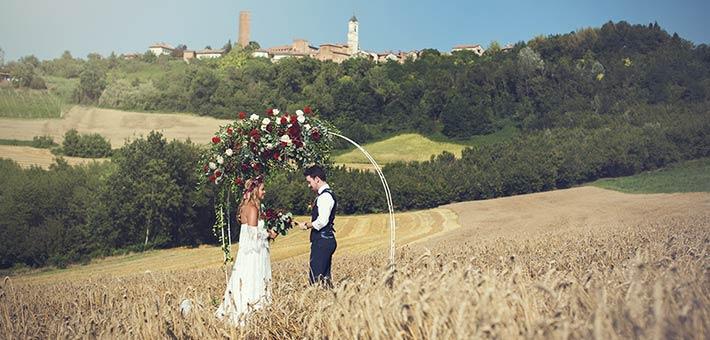 A Romantic Elope In Wheat Meadow Monferrato Piemonte Countryside