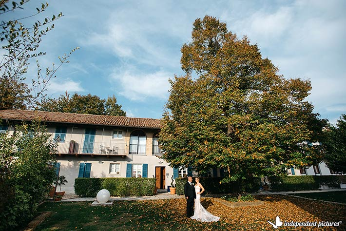 Autumn vineyard wedding Italy