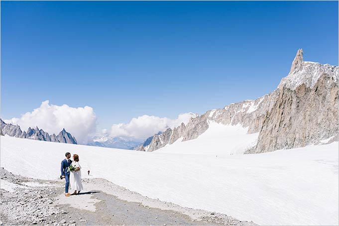 Wedding on top of Mont Blanc