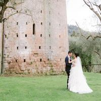 A stunning wedding at La Badia in Orvieto