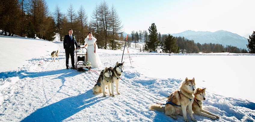 Winter Wedding in Italian Alps