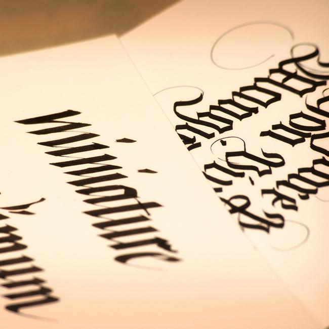 calligrafia gotico Ferri