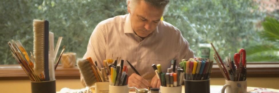 Marco Luca Ferri nel suo studio