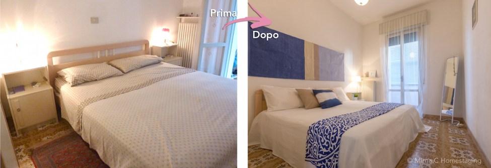 Mirna Casadei camera da letto azzurra
