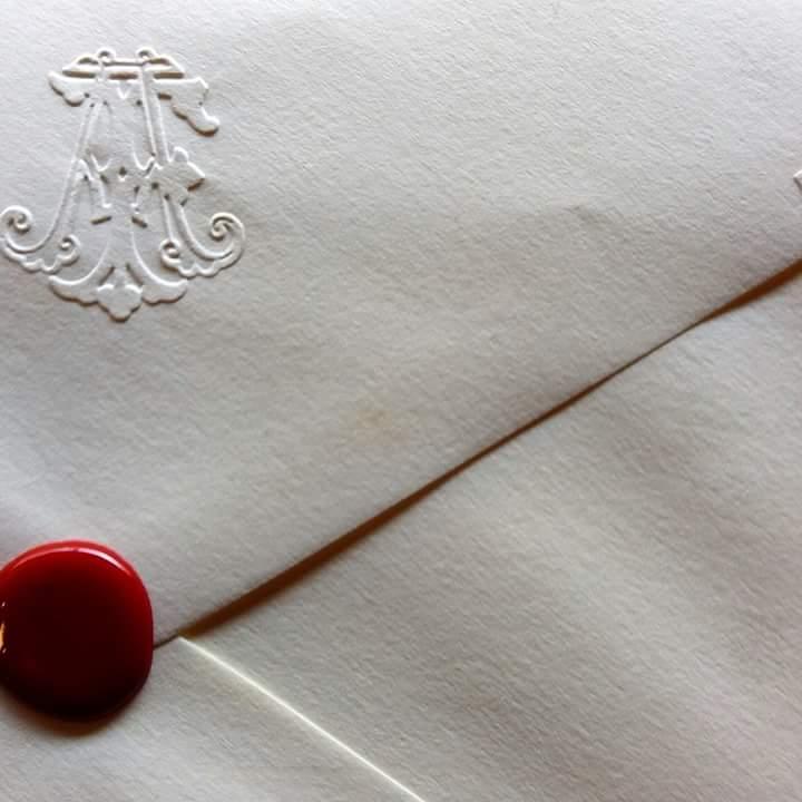 lettera con ceralacca Biagini
