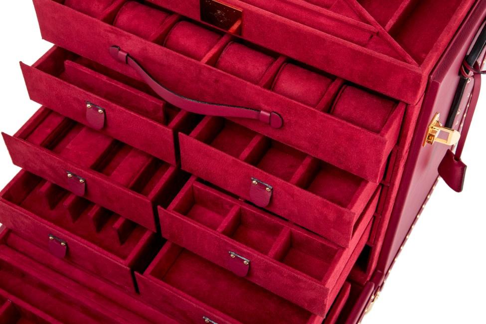 cassettiera rossa Royal Trunk
