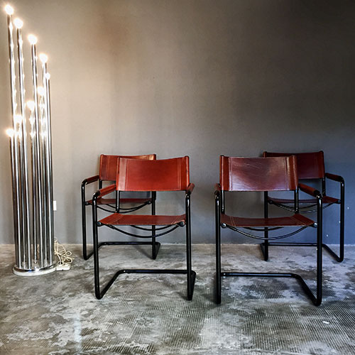 MG5 Dining Chairs By Mart Stam For Matteo Grassi, 1974, Set Of 4