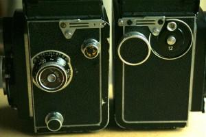 Rolleicord lato destro e sinistro
