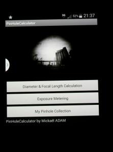 Pinhole calculator