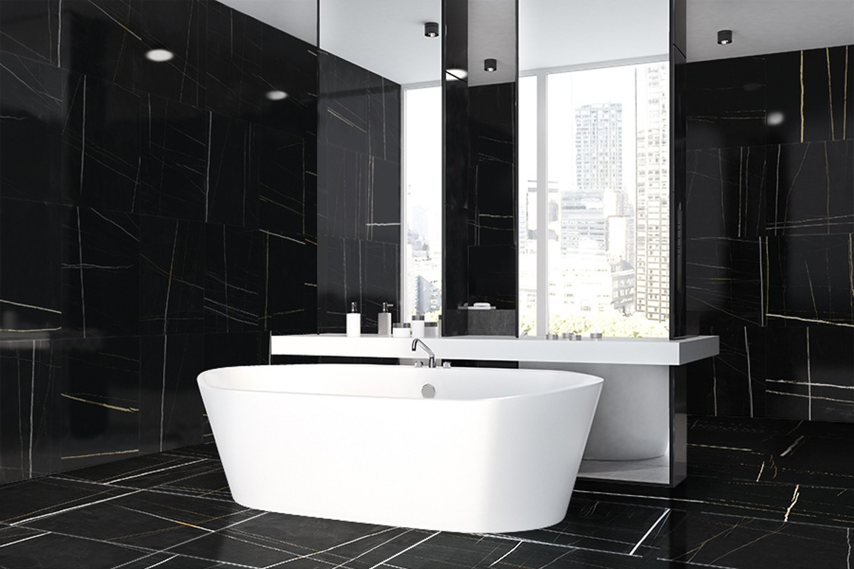 marbre moderne blanc et noir semi poli esb 1000 60x60