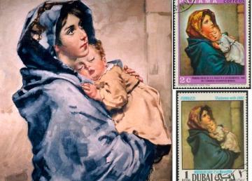La Madonna del Ferruzzi e francobolli commemorativi - wiki