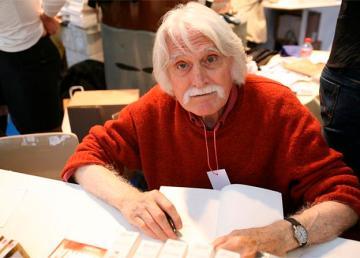 François Cavanna, l'un des fondateurs de Charlie Hebdo - Foire du Livre de Brive-la-Gaillarde - 6 novembre 2005. Photo : Oscar J. Marianez (Photo personnelle)