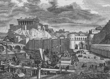 """""""City of Rome during time of republic"""". Con licenza Pubblico dominio tramite Wikimedia Commons - https://commons.wikimedia.org/wiki/File:City_of_Rome_during_time_of_republic.jpg#/media/File:City_of_Rome_during_time_of_republic.jpg"""