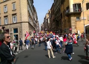 Manifestazione Sindacale del 20150505. Foto Giorgio Castore