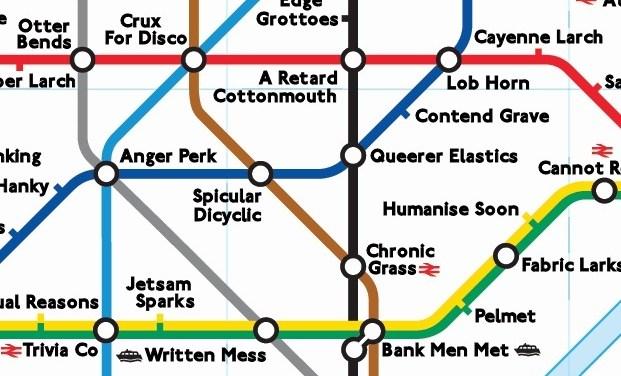 """7 divertenti e """"alternative"""" mappe della Tube"""