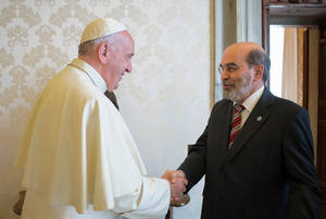 Papa Francesco incontra il Direttore Generale della FAO José Graziano da Silva.