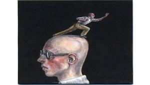 Dalla Venezia, tempera su carta cm 8.2x8.2, 2005