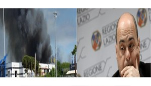 Incendio Eco X - Nicola Zingaretti - www-ilfoglio-it - www-corriereroma-news-it - 350X200