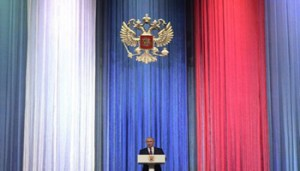 Russian President Vladimir Putin gives a speech at a reception marking Russia's Heroes of the Fatherland Day at the Kremlin in Moscow on December 14, 2017. / AFP PHOTO / SPUTNIK / Alexey DRUZHININ