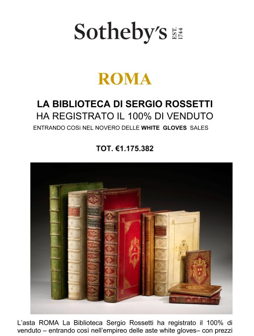 ROMA La biblioteca Sergio Rossetti_After Sale Press Release-1