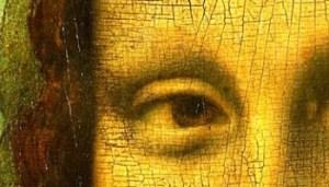 Particolare Occhi della Gioconda di Leonardo Da Vinci