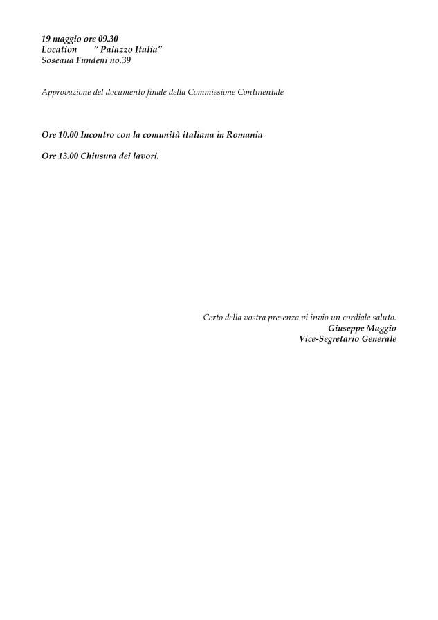 2018-05-04 - CGIE ESTERI - Convocazione Continentale EU Bucarest og e programma-3