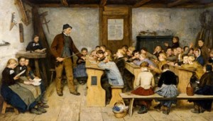 Albert Anker, La Scuola del Villaggio