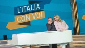 """Foto Federico Guberti Trasmissione """"L'Italia con Voi""""in foto: Monica Marangoni e Stefano Palatresi"""