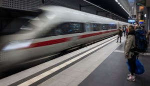 An Inter City Express (ICE) train of Germany's Deutsche Bahn (DB) arrives at Berlin's Hauptbahnhof main railway station on October 10, 2018. - Deutsche Bahn have announced further fare increases for December 2018. (Photo by John MACDOUGALL / AFP)        (Photo credit should read JOHN MACDOUGALL/AFP/Getty Images)